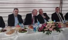 حفل غداء تكريمي على شرف جبق في دارة أبو علي حسين المقداد في مقنة