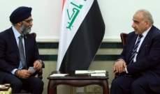 وزير الدفاع الكندي: نرغب بتطوير العلاقات مع العراق ودعم جهوده بإعادة الاستقرار