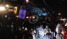 النشرة: سقوط 8 قتلى وعدد من الجرحى بحادث سير مروع على طريق أبلح نيحا