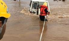 وفاة 12 شخصا وإنقاذ 271 آخرين جراء الأمطار والسيول في مناطق عدة بالسعودية