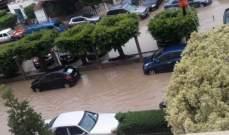 النشرة: طرقات كفرتبنيت وتلك المحيطة بمستشفى جبل عامل في صور غرقت بالمياه