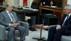 الرئيس عون بحث مع القاضي جان فهد شؤونا تتعلق بعمل القضاة
