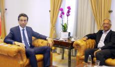 المحافظ شبيب استقبل سفير باكستان في زيارة وداعية
