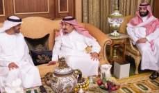 ملك السعودية التقى ولي عهد أبوظبي واستعرضا العلاقات الثنائية ومستجدات الأحداث