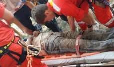 الصليب الأحمر انقذ شخصا سقط في حفرة بعمق 3 أمتار في منطقة الكورة