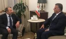 OTV: لقاء جمع باسيل وإبراهيم خلال اليومين الماضيين لبحث الملف الحكومي