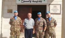 جولة لجنود حفظ السلام الإيطاليين لليونيفيل في بلدة يانوح