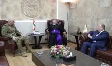 قائد الجيش التقى مطران الطائفة الآشورية والقاضي كلود غانم