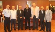 رابطة قدامى الأساتذة في الجامعة اللبنانية تزور رئيس الجامعة فؤاد أيوب