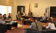 """محافظ النبطية إستقبل قائد القطاع الشرقي في """"اليونيفل""""  في زيارة وداعية"""