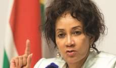 وزيرة خارجية جنوب أفريقيا تعلن عن تخفيض تمثيل بلدها الدبلوماسي في إسرائيل