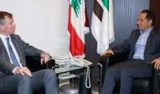 سامي الجميل يلتقي سفير بريطانيا في لبنان هيوغو شورتر