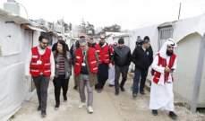 الهلال الأحمر القطري نظم قافلة إغاثية لمخيمات اللاجئين السوريين في لبنان