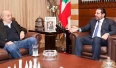 معلومات الـ OTV: جنبلاط طلب اللقاء من الحريري ليستكمل على العشاء