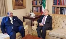 السنيورة التقى سفير جنوب افريقيا في زيارة وداعية