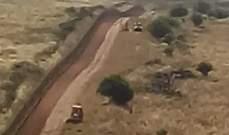 النشرة: جرافتان اسرائيليتان تعملان على توسيع الطريق العسكري مقابل العباسية
