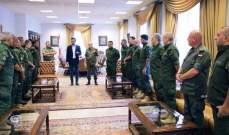 شبيب هنأ الضباط الجدد في فوج حرس مدينة بيروت