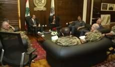 اجتماع بوزارة الدفاع بين بوصعب والحسن واللواء عثمان وعمداء من الجيش والأمن الداخلي