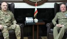 قائد الجيش بحث مع ديل كول بالأوضاع على الحدود الجنوبية والتقى المطران درويش