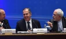 خارجية روسيا: لقاء بين لافروف وظريف وجاويش أوغلو في موسكو السبت بشأن سوريا