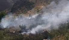 النشرة: إخماد حريق شب في خراج بلدة شبعا نتيجة ارتفاع درجات الحرارة