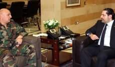 الحريري التقى قائد الجيش وعرض معه الاوضاع الأمنية في البلاد
