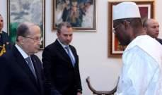 الرئيس عون تسلم أوراق اعتماد سفير جمهورية غينيا