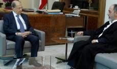 الرئيس عون استقبل القائم برئاسة المجلس الإسلامي العلوي الشيخ محمد عصفور
