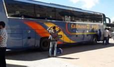 النشرة:بدء مغادرة الحافلات التي تقل النازحين السوريين من شبعا الى سوريا
