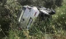 النشرة: جريح نتيجة تدهور سيارة على طريق وادي جيلو صور