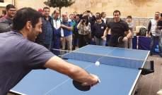 نواب من لجنة الشباب والرياضة يشاركون بمباريات كرة الطاولة في ساحة النجمة