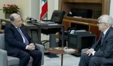 الرئيس عون استقبل زاسبكين وعرض معه العلاقات بين لبنان وروسيا