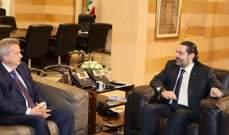 الحريري التقى سلامة وعرض معه الاوضاع المالية والاقتصادية