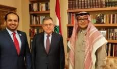 السنيورة التقى  السفيرين السعودي والاماراتي