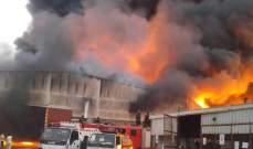 حريق في ميناء الحديدة اليمني دمر مخازن تحوي كميات من المواد الغذائية