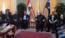 الشيخ عصفور زار مسؤول الرهبنة المارونية في سيدني: المغتربون قيمة للبنان