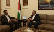 دبور وعطايا يؤكدان الرفض الفلسطيني لاي مشاريع لا تنسجم مع طموحات الشعب