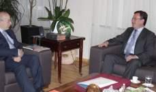الخوري بحث مع سفير ارمينيا بلبنان برنامج التعاون الثقافي بين لبنان وارمينيا