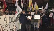 نشطاء أكراد تظاهروا أمام سفارة روسيا بباريس تنديدا بهجوم تركيا على عفرين