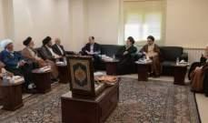 """ممثل السيستاني في لبنان استقبل وفد """"المجمع العالي لتفسير القرآن في قم"""""""