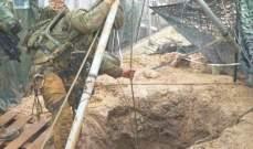 أعمال صب إسمنت للجيش الاسرائيلي بمكان حفر الانفاق مقابل بوابة فاطمة استمرت حتى الفجر