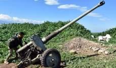 """الجيش السوري دمّر آليتين لمسلحي """"النصرة"""" وأوقع من بينهم قتلى بريف حماة الشمالي"""