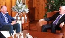 فرنجية بحث مع السفير الاسترالي التطورات الراهنة في لبنان والمنطقة