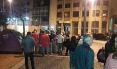 الجديد: الاعتصام مستمر في ساحة رياض الصلح والأجواء بين المعتصمين والقوى الامنية هادئة