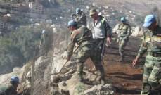 اليونيفيل والدفاع المدني يساعدان على إخماد حريق بالقرب من بلدة شبعا