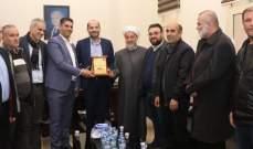 مراد التقى وفدا من الجمعية المسؤولة عن بناء دار افتاء راشيا شاكرا دعمه