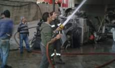 إخماد حريق في معمل أخشاب على مفرق كوشا بعكار