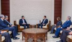 الرئيس السوري يستقبل معاون وزير الخارجية الإيراني