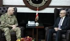 قائد الجيش التقى أمين عام المجلس الأعلى السوري- اللبناني ورئيس بلدية حاصبيا