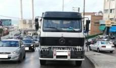 تعطل شاحنة على طلعة يسوع الملك ذوق مصبح حركة المرور كثيفة